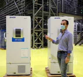 Good news - Covid-19: Έφτασαν στη Θεσσαλονίκη τα πρώτα ψυγεία όπου θα φυλάσσονται τα εμβόλια  - Θα φτάνουν τους -80 βαθμούς Κελσίου (φωτό) - Κυρίως Φωτογραφία - Gallery - Video