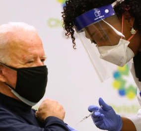 """Ο Τζον Μπάιντεν έκανε το εμβόλιο του κορωνοϊου on camera - """"Kάντε το, δεν συντρέχει λόγος ανησυχίας"""" (βίντεο) - Κυρίως Φωτογραφία - Gallery - Video"""