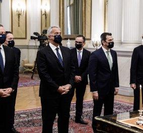 Live στο eirinika: Η ορκωμοσία των νέων Υπουργών & Υφυπουργών- Σε 3 διαφορετικές ομάδες λόγω κορωνοϊού - Κυρίως Φωτογραφία - Gallery - Video