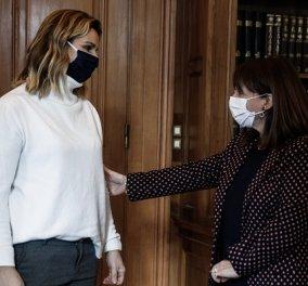 Συνάντηση Σακελλαροπούλου - Μπεκατώρου: Εύχομαι η γενναία αποκάλυψή της να σαρώσει κάθε υποκρισία και κάθε απόπειρα συγκάλυψης (φωτό) - Κυρίως Φωτογραφία - Gallery - Video