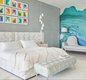 14 ονειρεμένα υπνοδωμάτια για να κλέψουμε ιδέες: Statement - πίνακες, κουρτίνες και μονοχρωματικά στυλ (φωτό) - Κυρίως Φωτογραφία - Gallery - Video