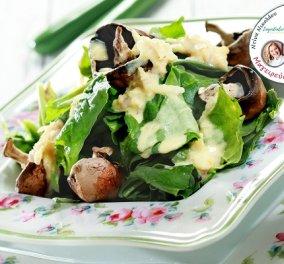 Ντίνα Νικολάου: Σαλάτα με σπανάκι, μανιτάρια και σάλτσα μουστάρδας - Ότι πρέπει μετά τις γιορτές! - Κυρίως Φωτογραφία - Gallery - Video