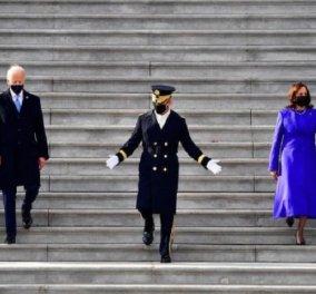 Γιατί φόρεσαν μωβ οι κυρίες στην ορκωμοσία; - Συμβολίζει την ενότητα, είναι το βασιλικό χρώμα & προσδίδει επισημότητα (φώτο)  - Κυρίως Φωτογραφία - Gallery - Video