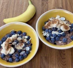 Ώρα για πρωινό με την Αργυρώ Μπαρμπαρίγου - Υγιεινή βρώμη με σοκολάτα και μπανάνα - Κυρίως Φωτογραφία - Gallery - Video