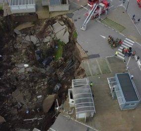 Ιταλία: Σοκαριστικό ατύχημα - Άνοιξε τεράστια τρύπα 20 μ. στο έδαφος - Κατάπιε αυτοκίνητα (φωτό) - Κυρίως Φωτογραφία - Gallery - Video