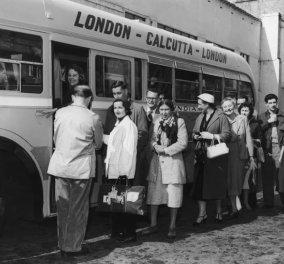 Vintage story: Το μεγαλύτερο ταξίδι με λεωφορείο του κόσμου: Διήρκεσε 50 μέρες - Από την Αγγλία στην Καλκούτα (φώτο)  - Κυρίως Φωτογραφία - Gallery - Video