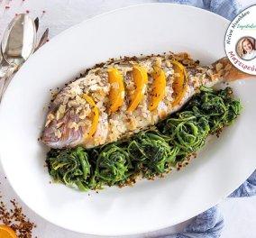 Ένα πιάτο διαιτητικό και πολύ γευστικό! Φαγκρί στην γάστρα με αχνιστά χόρτα από την Ντίνα Νικολάου - Κυρίως Φωτογραφία - Gallery - Video