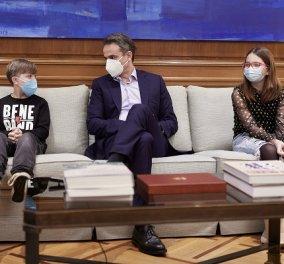 Με παιδιά που νίκησαν τον καρκίνο συναντήθηκε ο Κυριάκος Μητσοτάκης: Είστε πάρα πολύ γενναίοι και μας δίνετε δύναμη (φωτό) - Κυρίως Φωτογραφία - Gallery - Video
