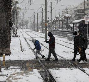 Προβλήματα στα μέσα μεταφοράς λόγω του χιονιά: Χωρίς λεωφορεία ΟΑΣΑ η Αθήνα - Τι ισχύει για μετρό & ηλεκτρικό - Κυρίως Φωτογραφία - Gallery - Video