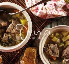 Η Ντίνα Νικολάου έχει το ιδανικό πιάτο για τις κρύες μέρες: Χειμωνιάτικη κρεατόσουπα - Θα μας κρατήσει ζεστούς και χορτάτους - Κυρίως Φωτογραφία - Gallery - Video