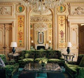 Μέσα σε μια έπαυλη του 1870 στο Παρίσι: Άρωμα πολυτέλειας με μαρμάρινα πατώματα, πράσινο βελούδο και χρυσό (φωτό) - Κυρίως Φωτογραφία - Gallery - Video