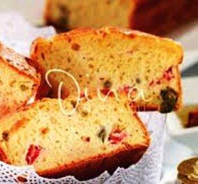 Η Ντίνα Νικολάου μας άνοιξε την όρεξη: Κέικ με λιαστές ντομάτες βασιλικό & κάπαρη - Το τέλειο κολατσιό  - Κυρίως Φωτογραφία - Gallery - Video