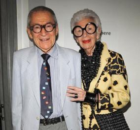 Η 99χρονη Άιρις Άπφελ θυμάται τον Βαλεντίνο της με σειρά από φωτό μαζί με τον άντρα της  - Το αξεπέραστο ζευγάρι fashion statement - Κυρίως Φωτογραφία - Gallery - Video