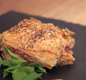 Η συνταγή της ημέρας από τον Άκη Πετρετζίκη: Νόστιμη Παστουρμαδόπιτα & μυστικά για να την απογειώσετε (βίντεο) - Κυρίως Φωτογραφία - Gallery - Video