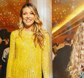 Η Μαριέττα Χρουσαλά με λαμπερό κίτρινο & ροζ φόρεμα δια χειρός Σήλιας Κριθαριώτης: Αναπολεί μια όμορφη βραδιά (φωτό) - Κυρίως Φωτογραφία - Gallery - Video