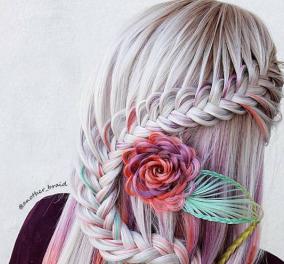 Μαγικά χτενίσματα για μια... Ραπουνζέλ: Καλλιτέχνης δημιουργεί φανταστικές πλεξούδες με πανέμορφα σχέδια (φωτό) - Κυρίως Φωτογραφία - Gallery - Video