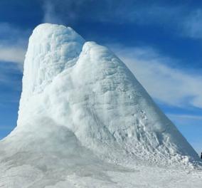 Εντυπωσιακό! Αυτό το ηφαίστειο πάγου θα σας πάρει τα μυαλά - Βρίσκεται στο Καζακστάν & προσελκύει εκατ. τουρίστες κάθε χρόνο (φωτό -βιντεο) - Κυρίως Φωτογραφία - Gallery - Video