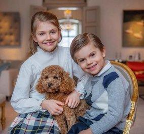Η κόρη της πριγκίπισσας Βικτώριας έγινε 9 ετών! Με καρό φουστίτσα η πριγκίπισσα Εστέλ μαζί με τον αδελφό της & το κουτάβι τους (φωτό) - Κυρίως Φωτογραφία - Gallery - Video