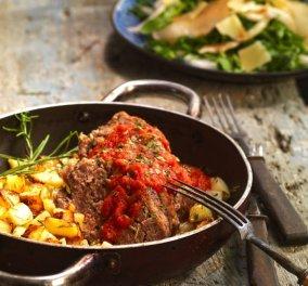 Αργυρώ Μπαρμπαρίγου: Γεμιστό ρολό κιμά με γλάσο ντομάτας, μία εύκολη συνταγή - Θα σας πάρει το μυαλό!  - Κυρίως Φωτογραφία - Gallery - Video
