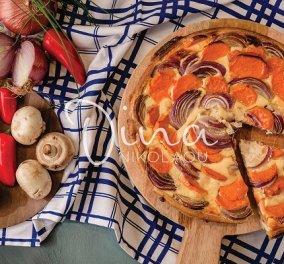 Ντίνα Νικολάου: Λαχταριστή τάρτα με μεσογειακή ζύμη, γλυκοπατάτες και κρεμμύδια - Θα την αγαπήσετε! - Κυρίως Φωτογραφία - Gallery - Video