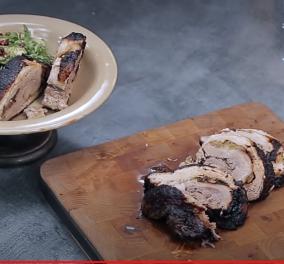 Η Αργυρώ Μπαρμπαρίγου μας δελεάζει με Γεμιστή πανσέτα ρολό στο φούρνο - Φανταστική γεύση - Κυρίως Φωτογραφία - Gallery - Video