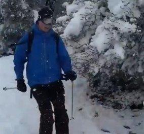 Ο πρέσβης της Νορβηγίας κάνει σκι στην Φιλοθέη, ο Φινλανδός βγήκε με μαγιό στις ξαπλώστρες - Όλοι ενθουσιασμένοι με το χιόνι (φωτό & βίντεο) - Κυρίως Φωτογραφία - Gallery - Video