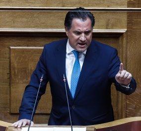 Άγρια αντιπαράθεση Γεωργιάδη - Τσίπρα στη Βουλή για την βάφτιση: «Ήρθε ο νονός;» - «Αν ήμουν πλαστογράφος θα είχα παραιτηθεί» (Βίντεο) - Κυρίως Φωτογραφία - Gallery - Video