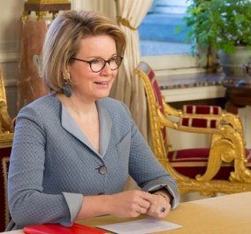 Εβδομάδα τηλεδιασκέψεων για την βασίλισσα Ματθίλδη: Έβαλε τα κομψά τα ταγιέρ της, κάθισε στον υπολογιστή και ξεκίνησε τα video calls (φωτό) - Κυρίως Φωτογραφία - Gallery - Video