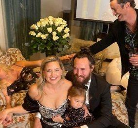Golden Globes: Γέλια και χαρές στο σπίτι της Kate Hudson - Φόρεσε την τουαλέτα της και είδε την τελετή με την οικογένειά της (φωτό) - Κυρίως Φωτογραφία - Gallery - Video