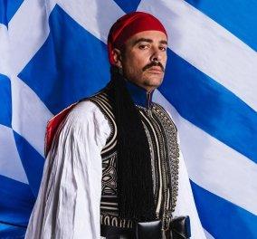 Στιβαρός τσολιάς ο Γιάννης Αϊβάζης: Εξώφυλλο για τα 200 χρόνια από την Ελληνική Επανάσταση - «Το παλικάρι μου!» (φωτό) - Κυρίως Φωτογραφία - Gallery - Video