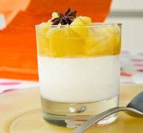 Το απόλυτο light γλυκό από τον Στέλιο Παρλιάρο: Κομπόστα ανανά με κρέμα γιαουρτιού - Απόλαυση χωρίς τύψεις  - Κυρίως Φωτογραφία - Gallery - Video