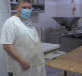 Good news: Αρτοποιός στην Κρήτη έφτιαξε λαγάνα - γίγας! Ζύγιζε 60 κιλά και ψήθηκε σε δύο δόσεις (φωτό) - Κυρίως Φωτογραφία - Gallery - Video