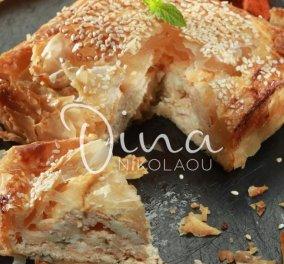 """Η Ντίνα Νικολάου έχει την τέλεια πρόταση για την """"Τυρινή"""" - Ελαφριά & πεντανόστιμη τυρόπιτα με φύλλα κρούστας &  κατίκι  - Κυρίως Φωτογραφία - Gallery - Video"""