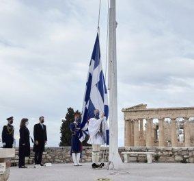 25η Μαρτίου 2021: Όλες οι εικόνες από την έπαρση της σημαίας στην Ακρόπολη, ανήμερα  της ιστορικής επετείου  - Κυρίως Φωτογραφία - Gallery - Video
