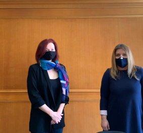 Μ. Συρεγγέλα: Δημιουργούμε ένα πλέγμα προστασίας και ένα περιβάλλον μηδενικής ανοχής της βίας και παρενόχλησης στην εργασία - Κυρίως Φωτογραφία - Gallery - Video