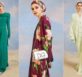 Η Μεσόγειος και η Άνοιξη εμπνέουν τον Dolce & Gabbana - Το βαμβακερό καφτάνι με τις μανόλιες, το φόρεμα με τις καμέλιες (φωτό) - Κυρίως Φωτογραφία - Gallery - Video