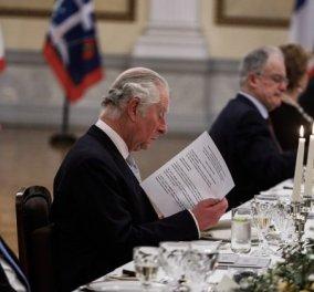 """Ο Κάρολος της Αγγλίας ζήτησε τις συνταγές από τον Λευτέρη Λαζάρου - Αχ αυτός ο κιμάς γαρίδας στο δείπνο του Προεδρικού """"έγραψε"""" Λευτέρη μου!!!! (φώτο) - Κυρίως Φωτογραφία - Gallery - Video"""