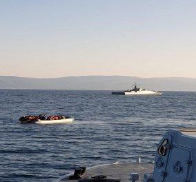 Δείτε  βίντεο & φώτο : Καρέ- καρέ οι επικίνδυνοι ελιγμοί της τούρκικης ακταιωρού - Παρενοχλεί σκάφος του λιμενικού    - Κυρίως Φωτογραφία - Gallery - Video