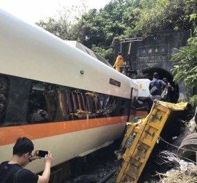 Ταϊβάν: Εκτροχιασμός τρένου μέσα σε τούνελ -Τουλάχιστον 48 νεκροί οι νεκροί (φωτό - βίντεο) - Κυρίως Φωτογραφία - Gallery - Video