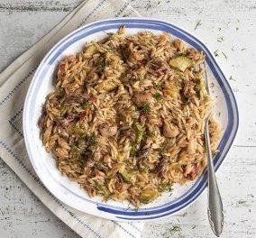 Ένα υπέροχο και νηστίσιμο πιάτο από τον Άκη Πετρετζίκη - Κριθαρότο με καλαμαράκια - Κυρίως Φωτογραφία - Gallery - Video