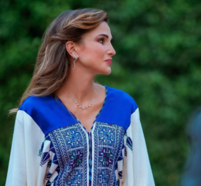 H Βασίλισσα Ράνια της Ιορδανίας σε μια αξεπέραστη εμφάνιση - Λαμπερή με παραδοσιακό έθνικ outfit (φωτό)  - Κυρίως Φωτογραφία - Gallery - Video
