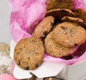 Σκέτος πειρασμός η συνταγή του Στέλιου Παρλιάρου: Κούκις με κομμάτια σοκολάτας γάλακτος και φουντούκια - Κυρίως Φωτογραφία - Gallery - Video
