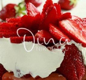 Δροσερό τιραμισού με φράουλες από τη Ντίνα Νικολάου - Το απόλυτο ανοιξιάτικο γλυκό  - Κυρίως Φωτογραφία - Gallery - Video