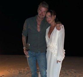 Έτσι γιόρτασε η Victoria Beckham τα 47α γενέθλιά της: Φωτιά στην παραλία, ο αγαπημένος της David και τα παιδιά τους (φωτό) - Κυρίως Φωτογραφία - Gallery - Video