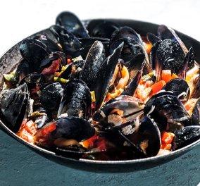 Λαχταριστά μύδια σαγανάκι με μουστάρδα και λεμόνι της Αργυρώς Μπαρμπαρίγου - Ένα πιάτο που μυρίζει θάλασσα  - Κυρίως Φωτογραφία - Gallery - Video