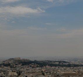 """""""Κρύφτηκε"""" η Ακρόπολη από τον καπνό - Αποπνιχτική η ατμόσφαιρα στην Αθήνα από τη φωτιά στην Κόρινθο  (φώτο)    - Κυρίως Φωτογραφία - Gallery - Video"""