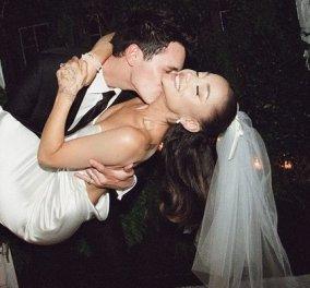 Οι φωτό από τον γάμο της Ariana Grande & του Dalton Gomez: Το στράπλες νυφικό, το πέπλο με τον  φιόγκο - έμοιαζε με της Audrey Hepburn  - Κυρίως Φωτογραφία - Gallery - Video