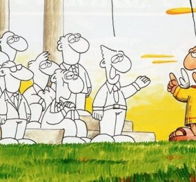 Ο Αρκάς στο σκίτσο του: Χριστός Ανέστη Άγγελε! - Αληθώς... Αλλά μην σας μπαίνουν ιδέες!... - Κυρίως Φωτογραφία - Gallery - Video