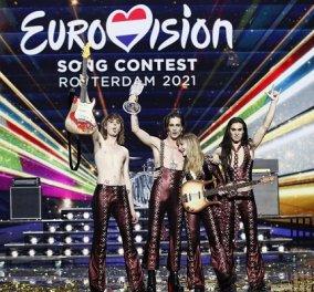 Eurovision 2021: Νικητής ο Ιταλός ροκάς - Στη 10η θέση η Ελλάδα, στη 16η η Κύπρος - χωρίς πρωτιά τα φαβορί, η Γαλλίδα & ο Ελβετός (φωτό & βίντεο) - Κυρίως Φωτογραφία - Gallery - Video
