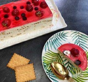 Η Αργυρώ Μπαρμπαρίγου μας φτιάχνει ένα τέλειο Γλυκό ψυγείου με φράουλες - Εύκολο, με λίγα υλικά σε 5' λεπτά - Κυρίως Φωτογραφία - Gallery - Video